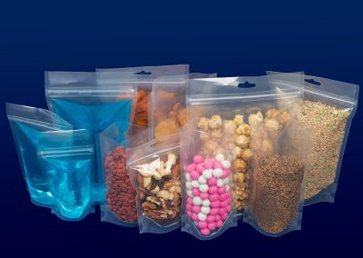Clear Plastic Doy Bags